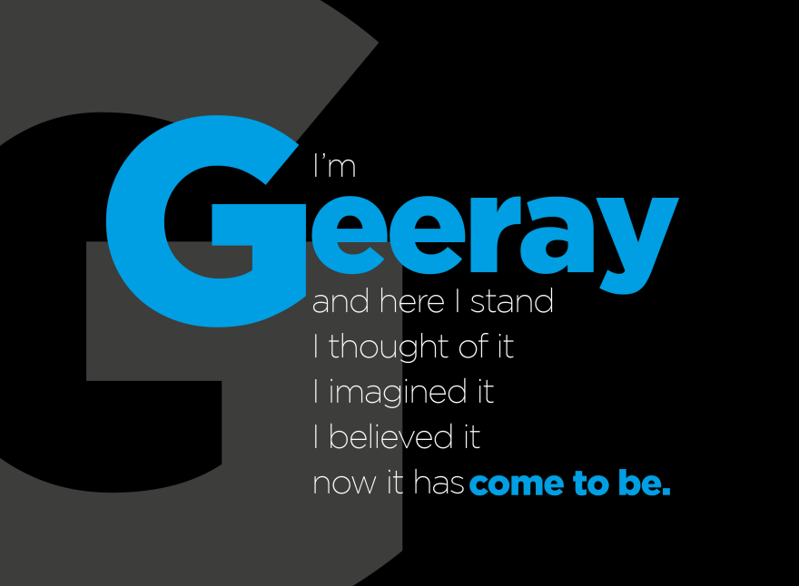 I'm Geeray blue and black