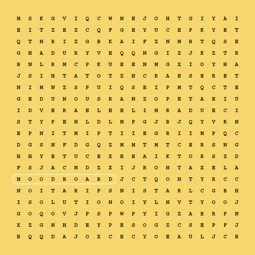 WORD SEARCH DESIGN.