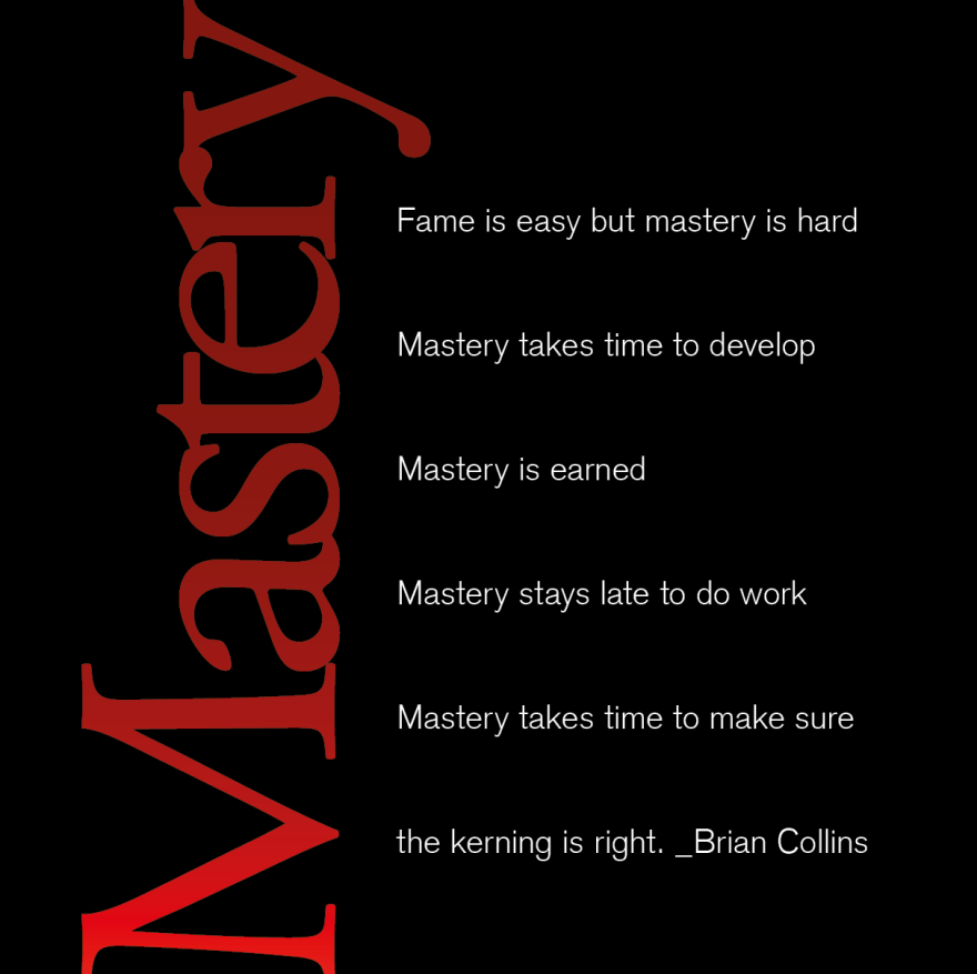 Mastery. Brian Collins