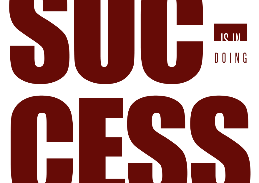 Success is in doing. Philip Abang. Quote. blog